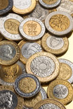 Collection of Bimetallic Coins Stock Photo