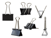 Collection of Binder Clips, Isolated Stock Photography