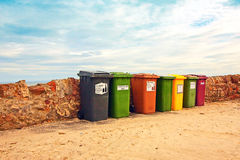 Collection of bins Royalty Free Stock Photo