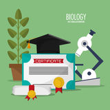 Collection biology school equipment Stock Photography