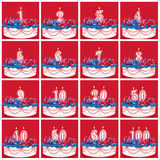 Collection of Birthday Number Candles Royalty Free Stock Photography