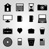 collection of black abstract symbols Royalty Free Stock Images