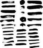 Collection of black acrylic paintbrush  brush vector for illustr Stock Photo