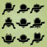 Collection of black award icons Royalty Free Stock Photo