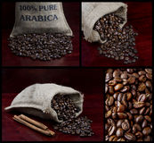 Collection of black coffee. Collection of four images of black coffee royalty free stock images