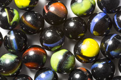 Black Swirl Marbles Royalty Free Stock Photos