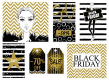 Collection with Black Friday sale banner Royalty Free Stock Images