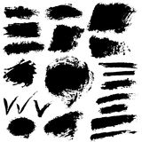 Collection of black grunge vector banners Royalty Free Stock Image
