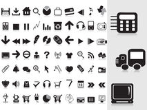 Collection of black icons Royalty Free Stock Photography