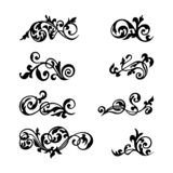 Collection black vintage decorative element for any design for you. Can be used for wedding, romantic invitation vignette, congratulation and other design vector illustration