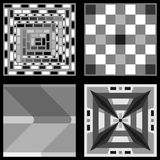 Collection of black white gray tiles Stock Photos