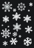 Collection blanche de flocons de neige Images stock
