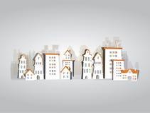 Collection blanche de ville, fond de rue de ville Photo libre de droits