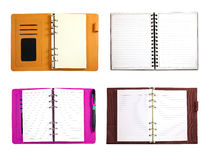 Collection of blank binder notebook isolated Royalty Free Stock Images