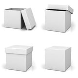 Collection of blank boxes Royalty Free Stock Image