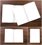 Collection of Blank catalog, brochure, mock up. Royalty Free Stock Image