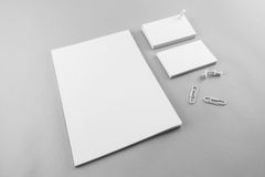 Collection of Blank catalog, magazine, book template and busines Stock Photo