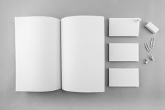 Collection of Blank catalog, magazine, book template and busines Stock Image