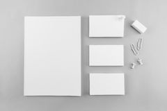 Collection of Blank catalog, magazine, book template and busines Stock Photography