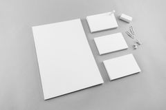 Collection of Blank catalog, magazine, book template and busines Royalty Free Stock Photo