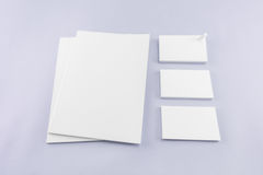 Collection of Blank catalog, magazine, book template and busines Royalty Free Stock Image