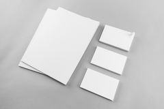 Collection of Blank catalog, magazine, book template and busines Royalty Free Stock Images