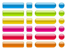 collection of blank colorful buttons Royalty Free Stock Photography