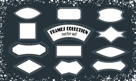 Collection of blank frames, background for text for your design. stock photography