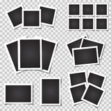Collection of blank photo frames with shadow. Different sizes Royalty Free Stock Images