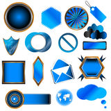 Collection bleue Image stock