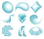 Collection bleue de logo illustration libre de droits