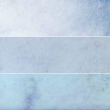 Collection bleue de milieux de cru Photo stock