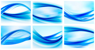 Collection of blue abstract backgrounds Royalty Free Stock Photos