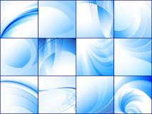 Collection of blue abstract backgrounds. For your design Royalty Free Stock Photography