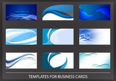 Collection of blue business cards Royalty Free Stock Photography