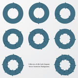 Collection of blue color arrow circle flows. Royalty Free Stock Photo