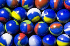 Blue Swirl Marbles Stock Image