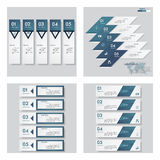 Collection of 4 blue color template/graphic or website layout. Vector Background. Royalty Free Stock Photography