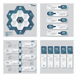 Collection of 4 blue color template/graphic or website layout. Vector Background. Stock Photography