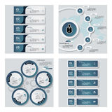Collection of 4 blue color template/graphic or website layout. Vector Background. Royalty Free Stock Photo