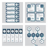 Collection of 4 blue color template. Vector Background. royalty free illustration