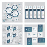 Collection of 4 blue color template. Vector Background. vector illustration