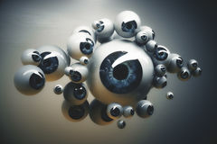 Collection of blue eyeballs Stock Photography