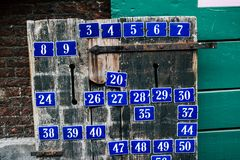 Street and house numbers for sale Royalty Free Stock Image
