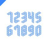 Collection of the isometric sport numbers set with triangle. Vector illustration font Royalty Free Stock Photo