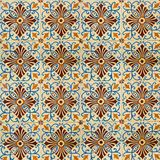 Collection of blue and orange patterns tiles Royalty Free Stock Photo