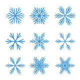 Collection of Blue Snowflakes. Stock Photos