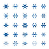 Collection of blue Snowflakes. Vector Illustration Stock Photography