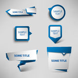 Collection blue web pointers design template Stock Photography