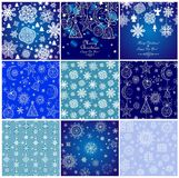 Collection of blue winter wallpaper Royalty Free Stock Photography